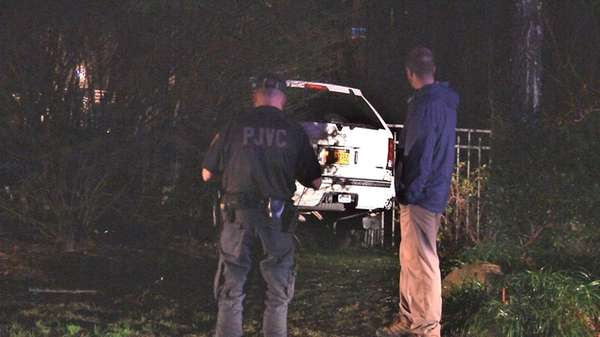 A Port Jefferson Village constable was hospitalized Thursday,