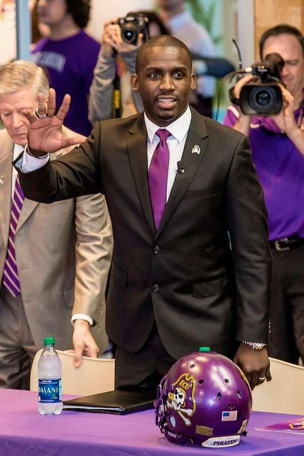 In this image released by ECU Sports Media