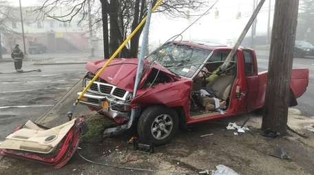 The crash site where one man was critically