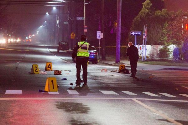 Nassau County police investigate the scene on Old