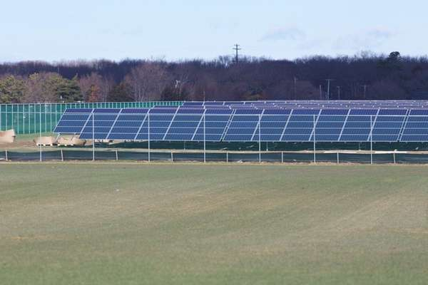 The sPower solar array in Shoreham, Dec.