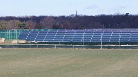 The sPower solar array in Shoreham, Dec.