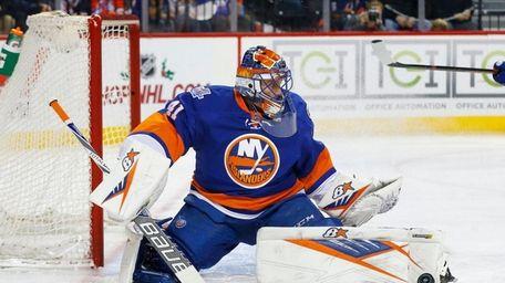 Jaroslav Halak #41 of the New York Islanders