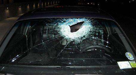 A motorist and his passenger were hurt Saturday