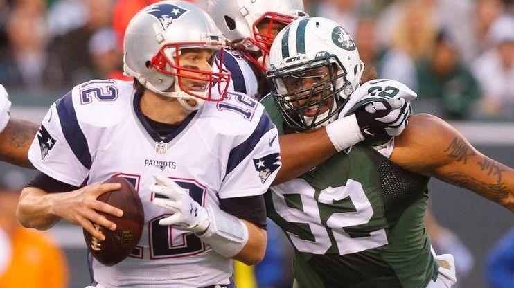 New York Jets defensive end Sheldon Richardson (91)