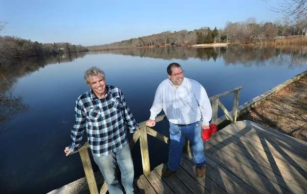 Environmentalists Kevin McAllister, left, and Doug Swesty, at