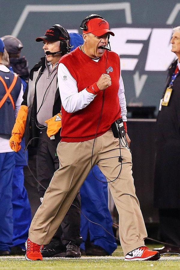 Rex Ryan was pumped up when his Bills