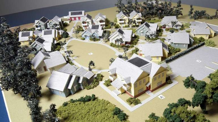 A 3-D model of a cottage-style rental apartment