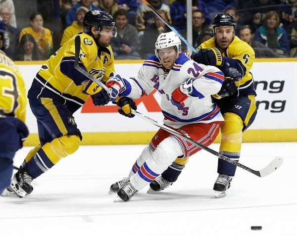 New York Rangers center Oscar Lindberg (24), of
