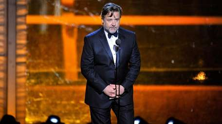Oscar-winning actor Russell Crowe speaks at the 2016