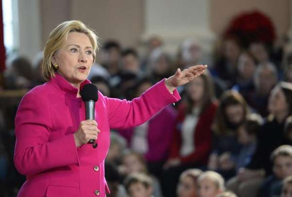 State Democratic leaders are backing Hillary Clinton, here