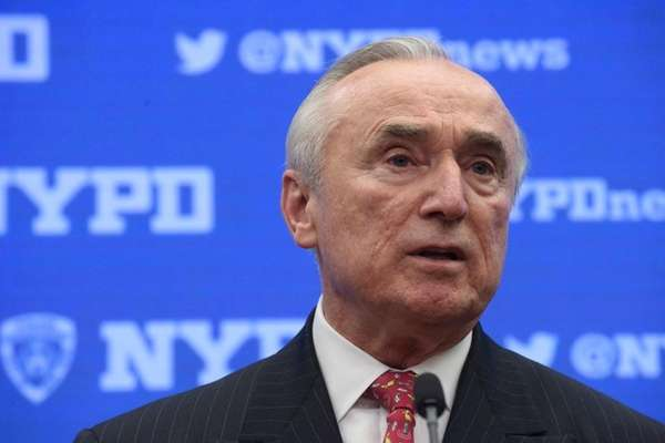 Police Commissioner William J. Bratton speaks at a