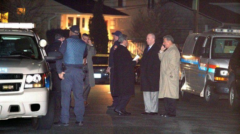 Nassau and Freeport police investigate the scene of