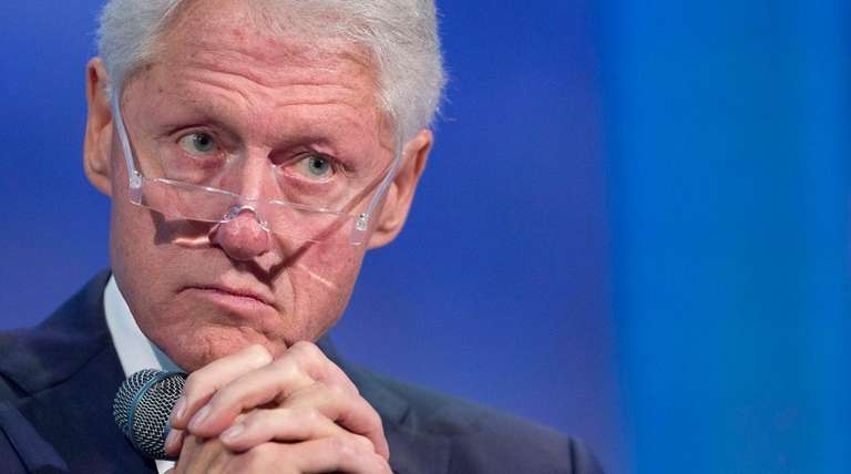 Former President Bill Clinton during an event