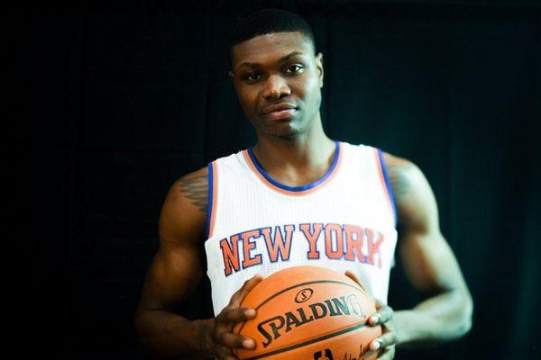The NYPD investigates the scene where Knicks forward