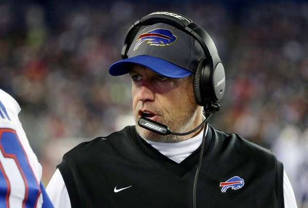 Buffalo Bills head coach Rex Ryan instructs his
