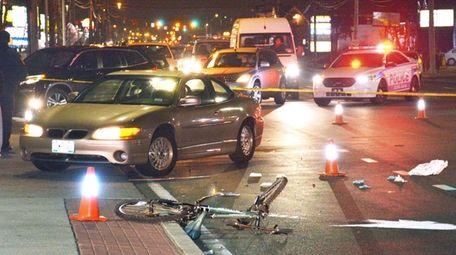 Police say a bicylist was struck by a