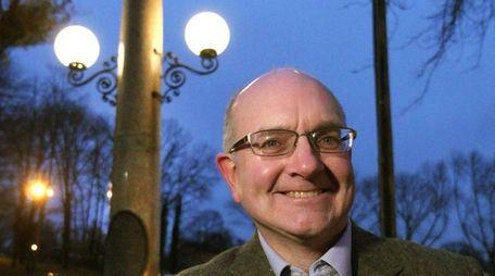 Huntington Town historian Robert Hughes, here on Tuesday,