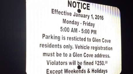A recently approved law banning nonresident parking in