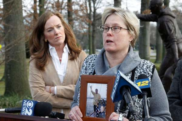 Rep. Kathleen Rice, left, joined Sue Ciano and