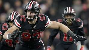 Ohio State defensive lineman Joey Bosa plays