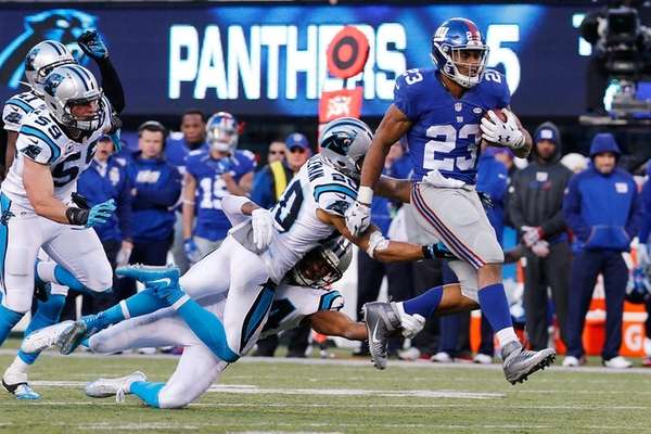 Rashad Jennings #23 of the New York