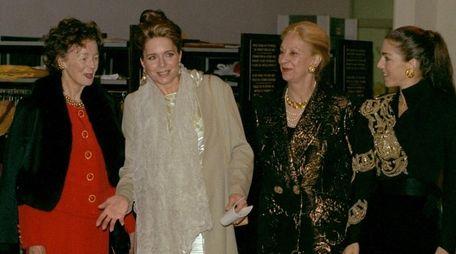Queen Noor of Jordan, second from left, and