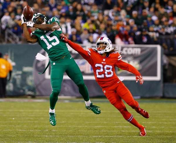 Ronald Darby defends against Brandon Marshall in Nov.