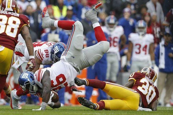 New York Giants running back Orleans Darkwa