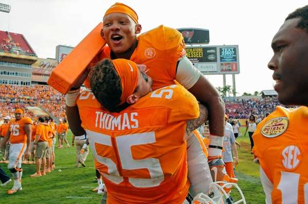 Joshua Dobbs of the Tennessee Volunteers is
