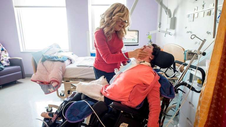 Dimitra Cilento visits her 22-year-old disabled daughter, Stephanie,