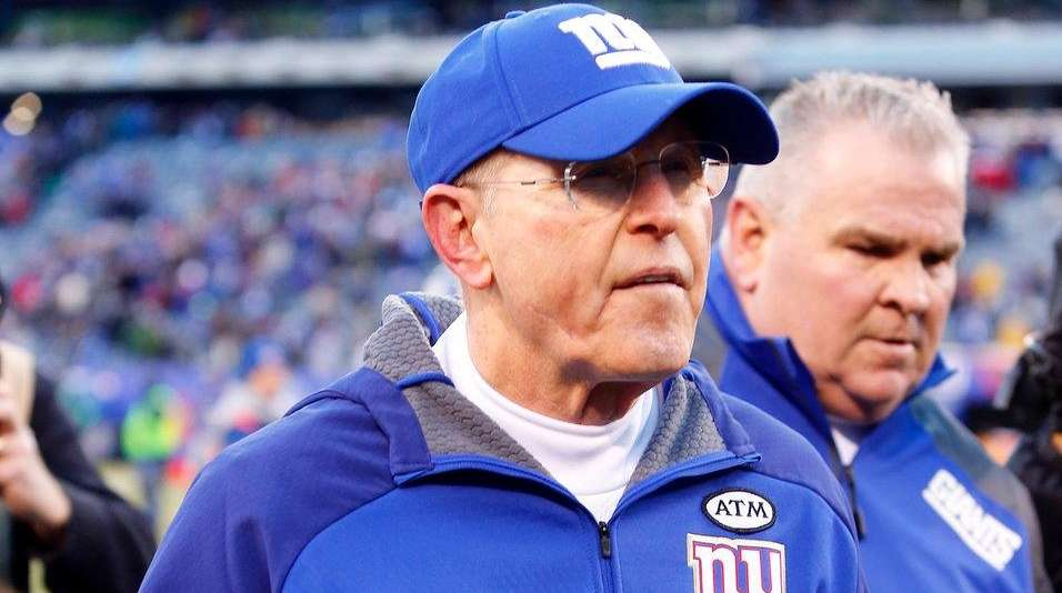 Head coach Tom Coughlin of the New