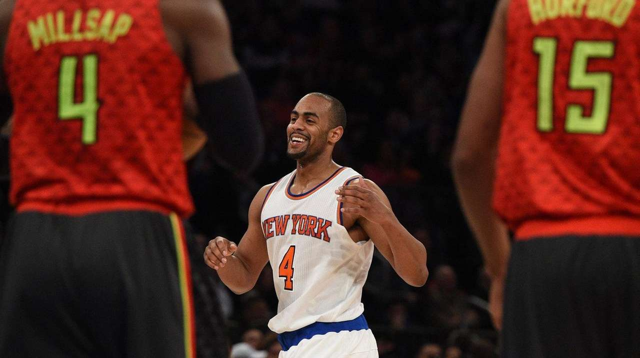 Knicks guard Arron Afflalo had been cold