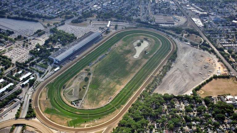 Aerial view of Belmont Park in Elmont May