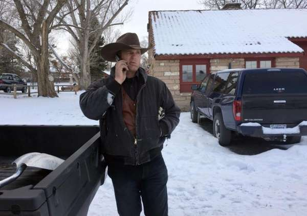 Ryan Bundy talks on the phone at the