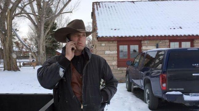 Ryan Bundy talks on the phone at the