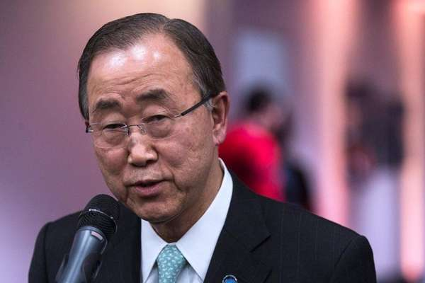UN Secretary-General Ban Ki-moon spoke with foreign ministers