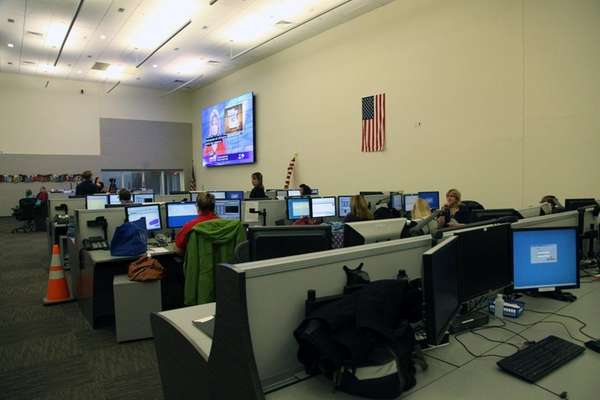 The 911 call center on Wednesday, Dec. 3,