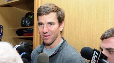Eli Manning, quarterback for the New York Giants,