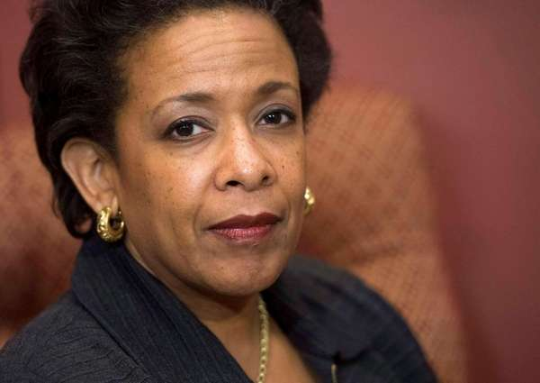 U.S. Attorney General Loretta Lynch is seen in