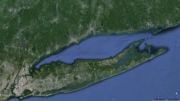 Google Earth image showing Long Island Sound.