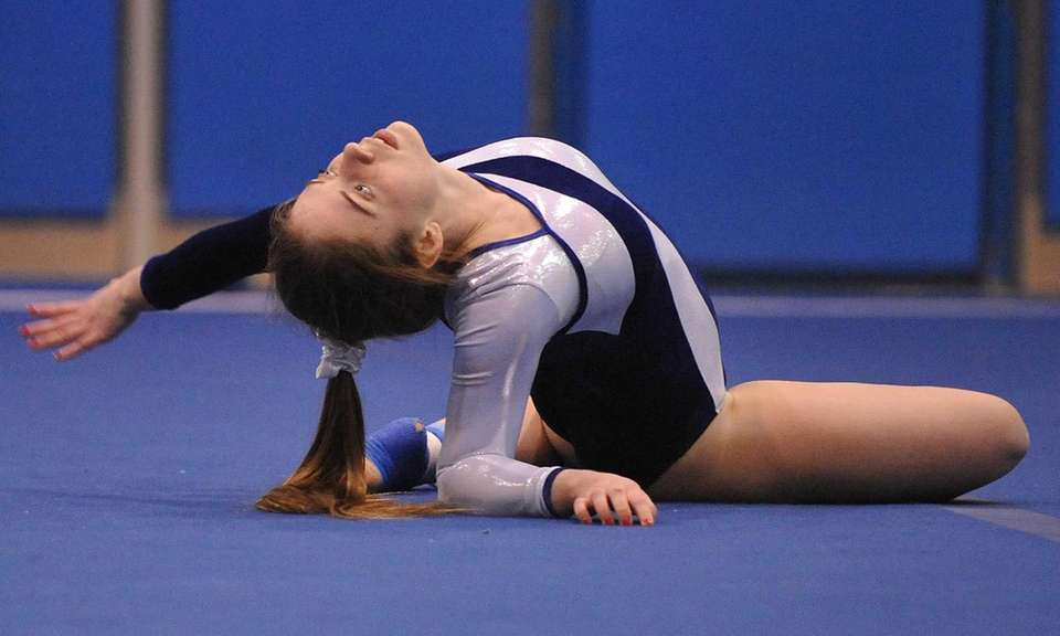 Meghan Maquet of Long Beach peforms her floor