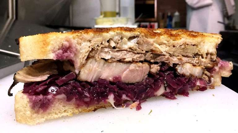 The cochon panino, with roast pork, red cabbage