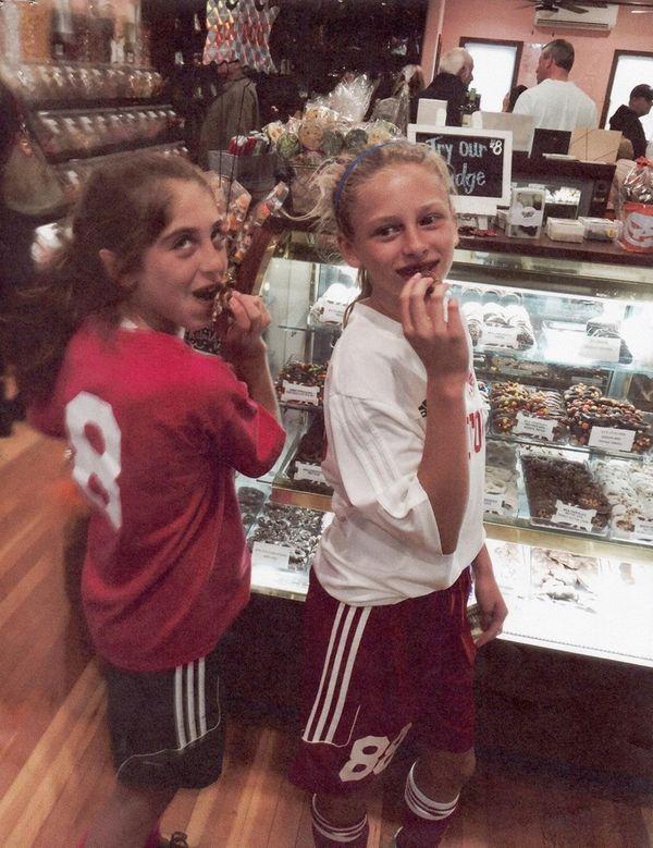 Kidsday reporters Samantha D'Angelo, left, and Samantha Lips