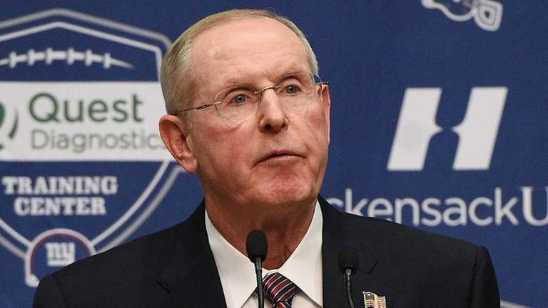 New York Giants head coach Tom Coughlin speaks