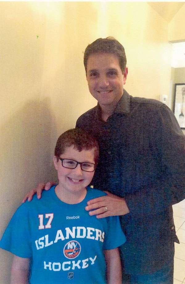 Actor Ralph Macchio with Kidsday reporter Eric Galinkin