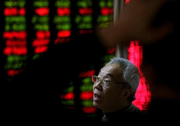 An investor in a brokerage house in Beijing,