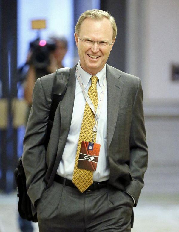New York Giants owner John Mara arrives