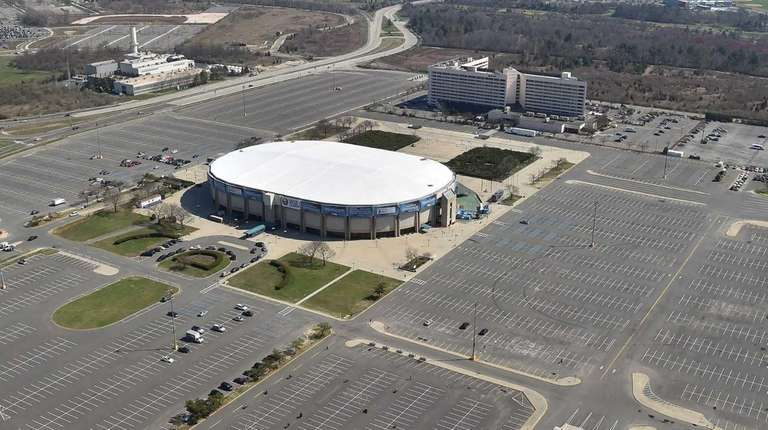 Nassau Coliseum in Uniondale, which closed its doors