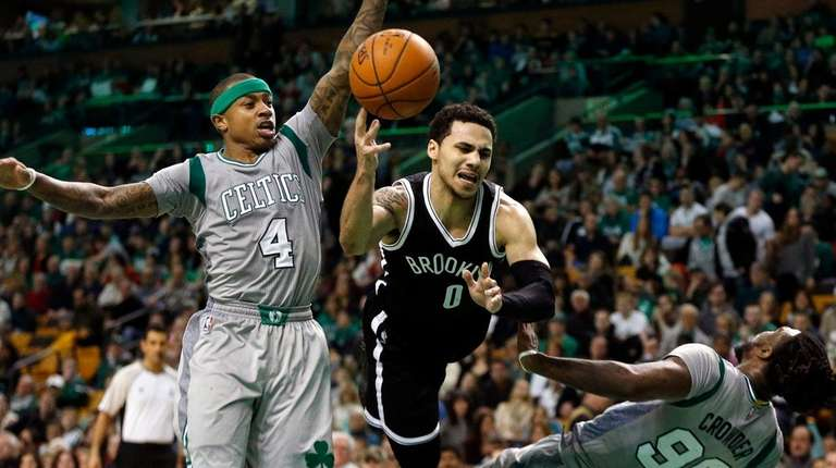 Shane Larkin got a bit too aggressive going